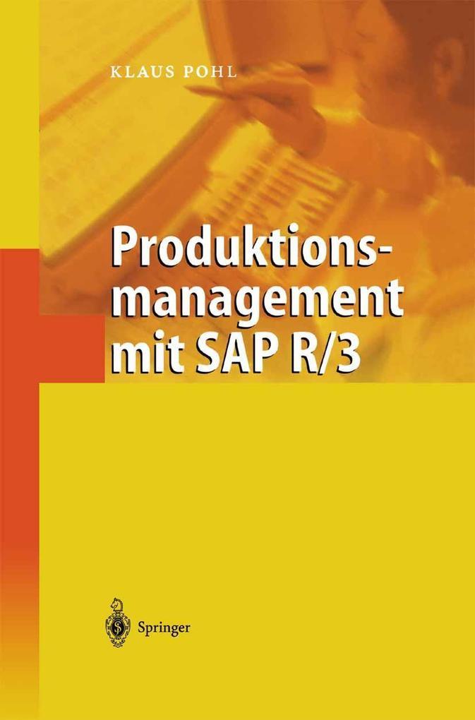Produktionsmanagement mit SAP R/3 als eBook Dow...
