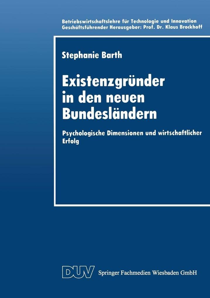 Existenzgrunder in den neuen Bundeslandern als ...