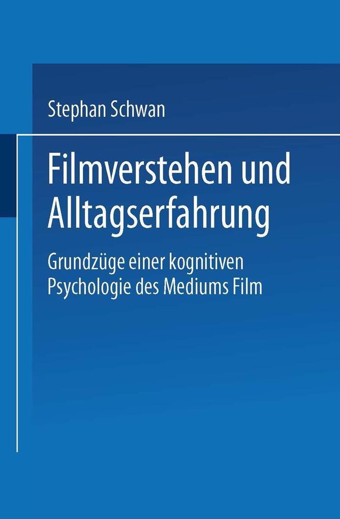 Filmverstehen und Alltagserfahrung als eBook Do...