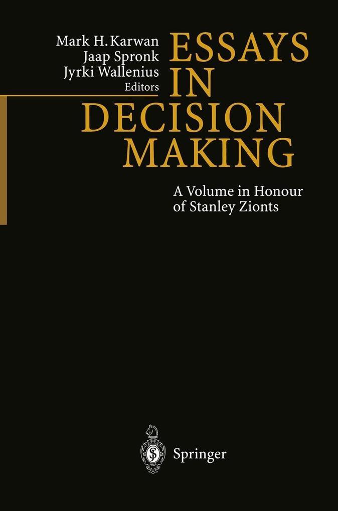 Essays In Decision Making als eBook Download von