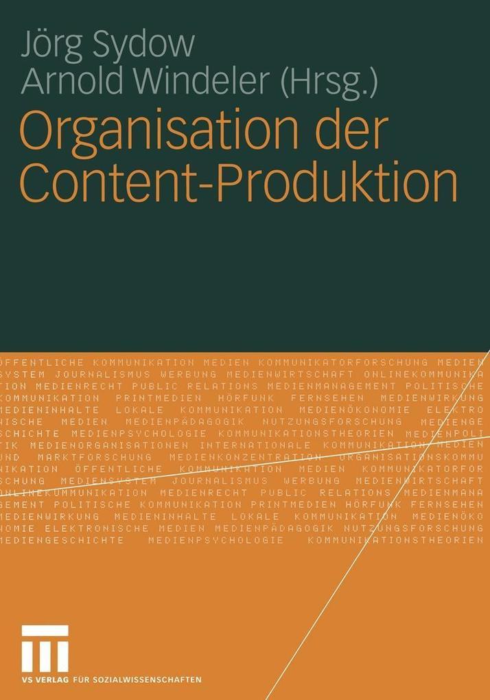 Organisation der Content-Produktion als eBook D...