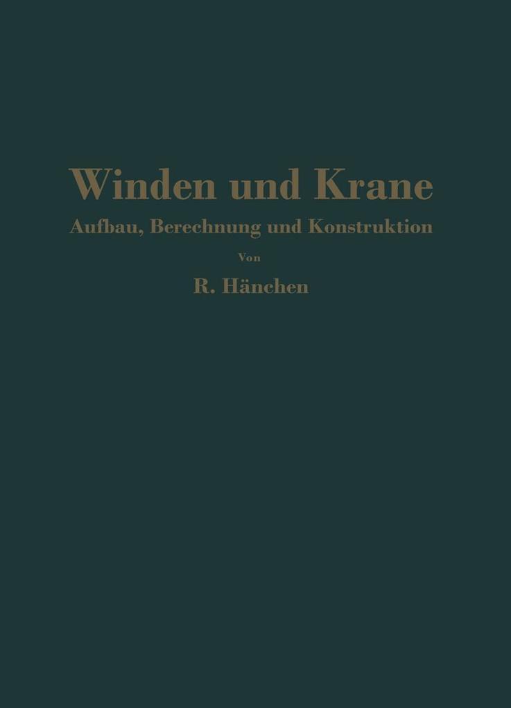 Winden und Krane als eBook Download von R. Hanchen