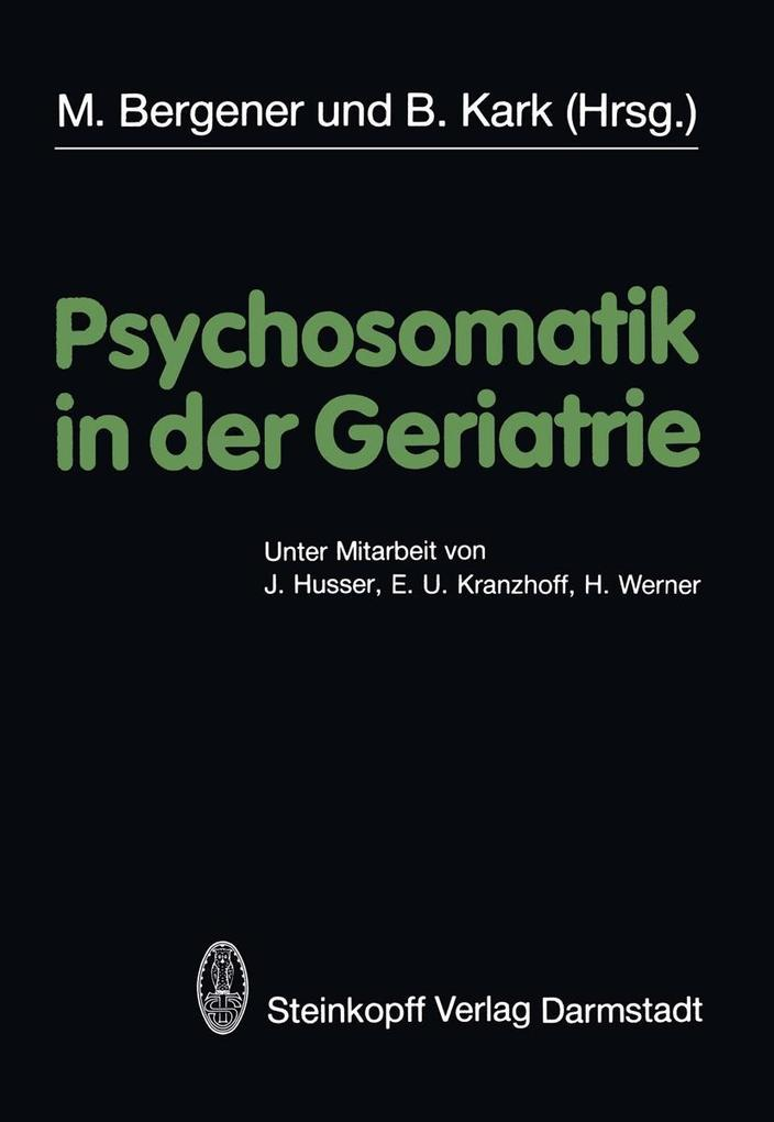 Psychosomatik in der Geriatrie als eBook Downlo...