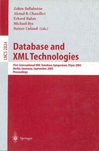 Database and XML Technologies als eBook Downloa...