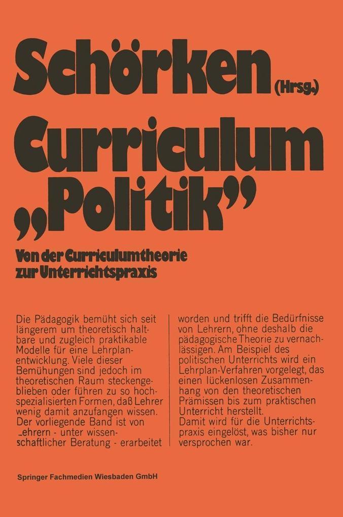 Curriculum Politik als eBook Download von