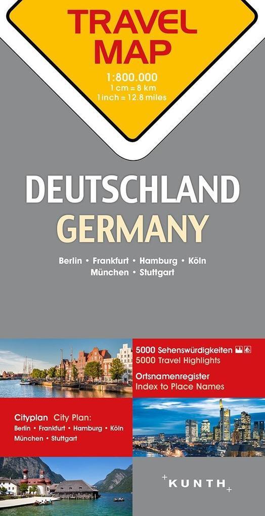 Reisekarte Deutschland 1:800.000 als Buch von