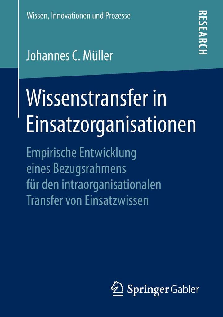 Wissenstransfer in Einsatzorganisationen als Bu...