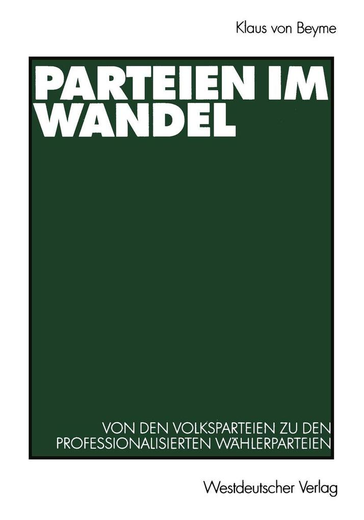 Parteien im Wandel als eBook Download von Klaus...