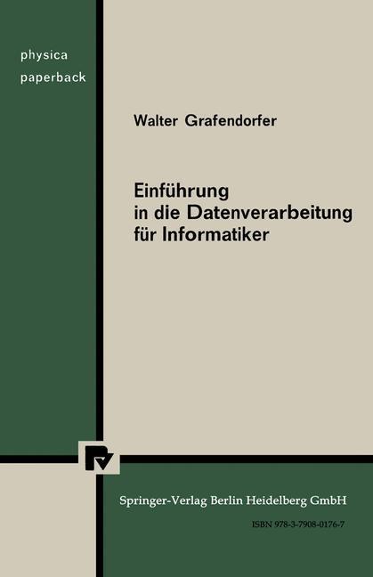 Einfuhrung in die Datenverarbeitung fur Informa...