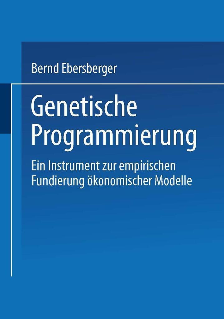 Genetische Programmierung als eBook Download vo...