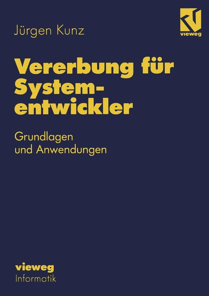Vererbung fur Systementwickler als eBook Downlo...