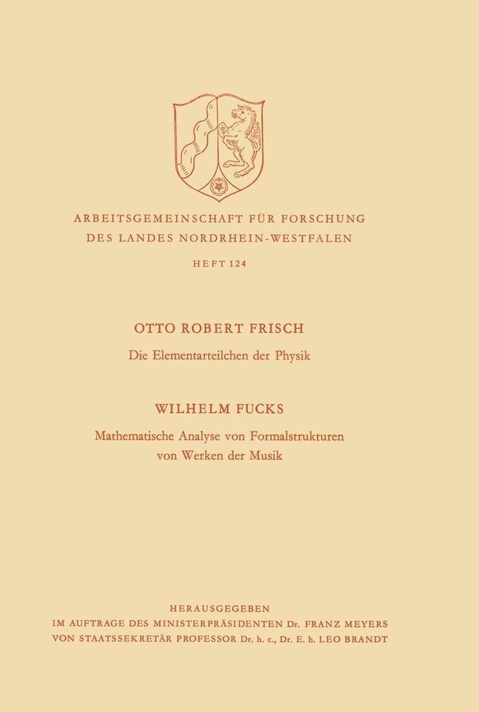 Die Elementarteilchen der Physik / Mathematisch...