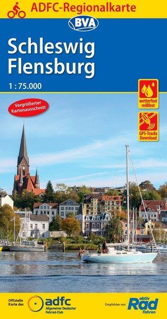 ADFC-Regionalkarte Schleswig Flensburg 1:75.000...