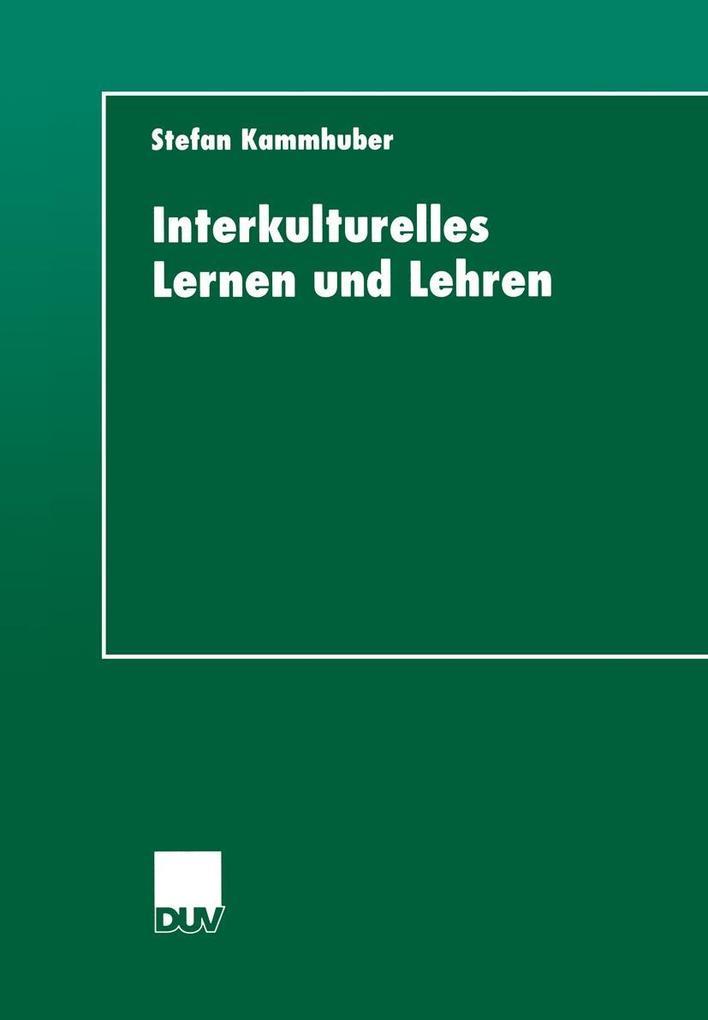 Interkulturelles Lernen und Lehren als eBook Do...