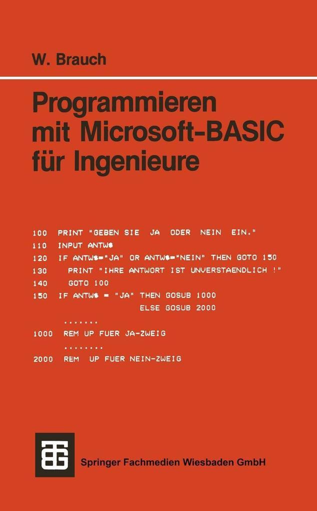 Programmieren mit Microsoft-BASIC fur Ingenieur...