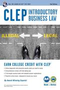 CLEP(R) Introductory Business Law Book + Online, 2nd Ed.