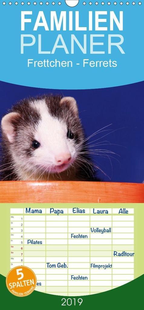 Frettchen - Ferrets - Familienplaner hoch (Wand...