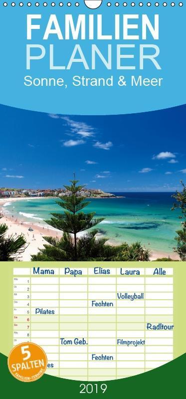 Sonne, Strand & Meer - Familienplaner hoch (Wan...