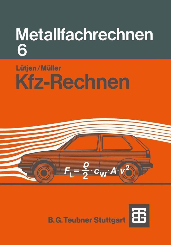 Kfz-Rechnen als eBook Download von Diedrich Lut...