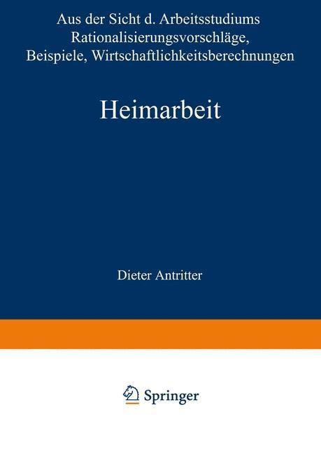 Heimarbeit als eBook Download von Dieter Antritter