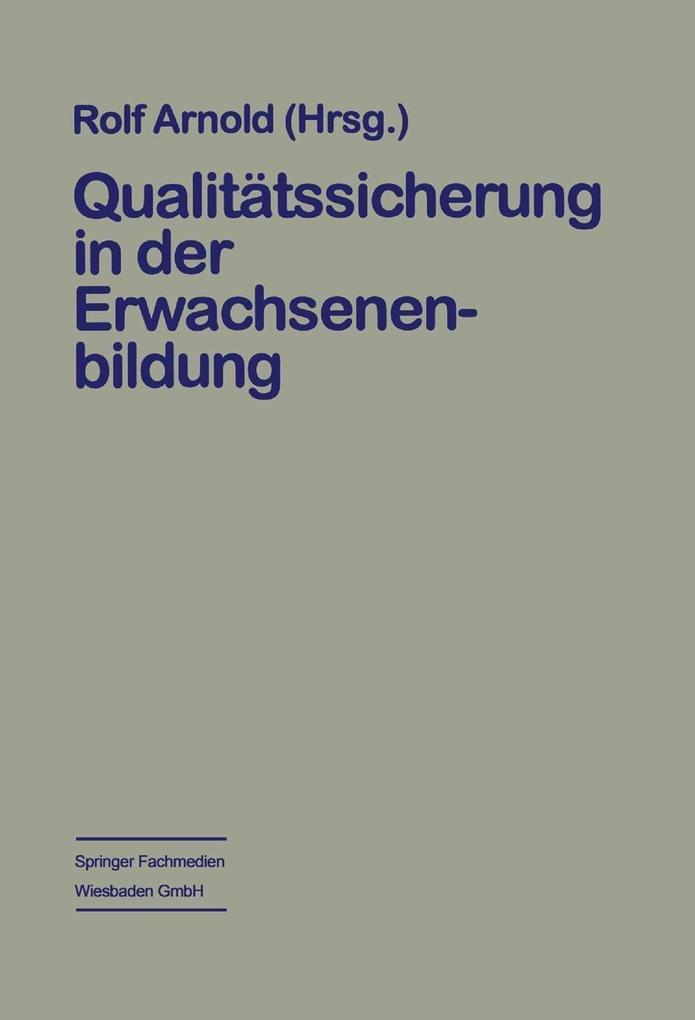 Qualitatssicherung in der Erwachsenenbildung al...