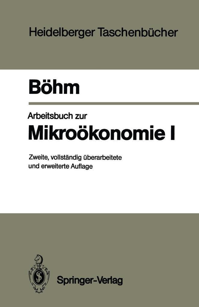 Arbeitsbuch zur Mikrookonomie I als eBook Downl...