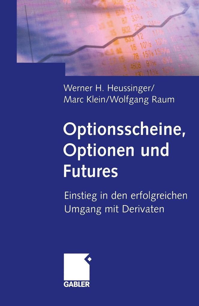 Optionsscheine, Optionen und Futures als eBook ...