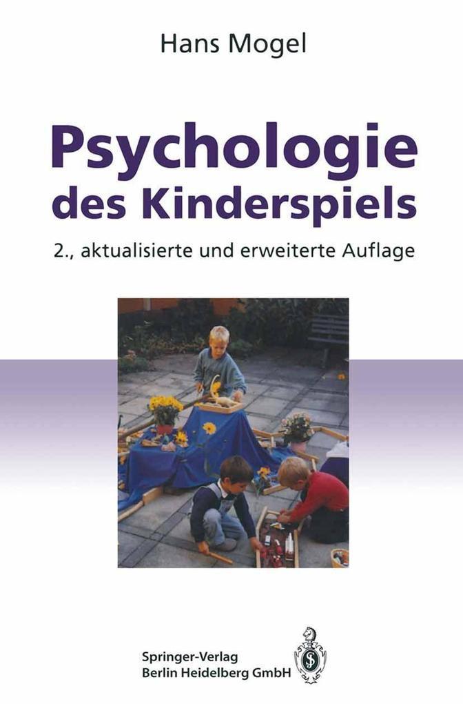 Psychologie des Kinderspiels als eBook Download...