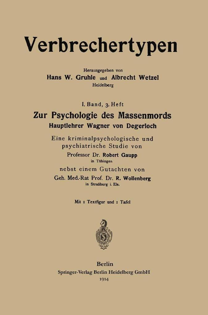 Zur Psychologie des Massenmords als eBook Downl...