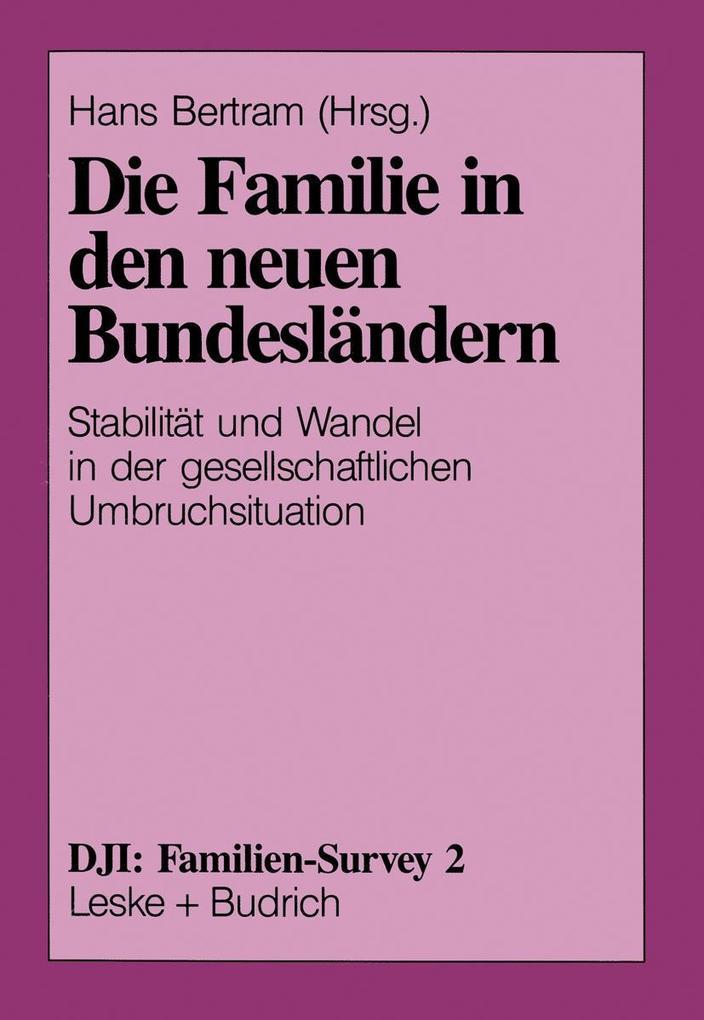 Die Familie in den neuen Bundeslandern als eBoo...