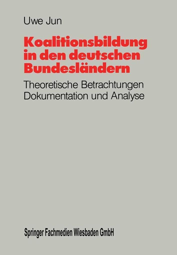 Koalitionsbildung in den deutschen Bundeslander...