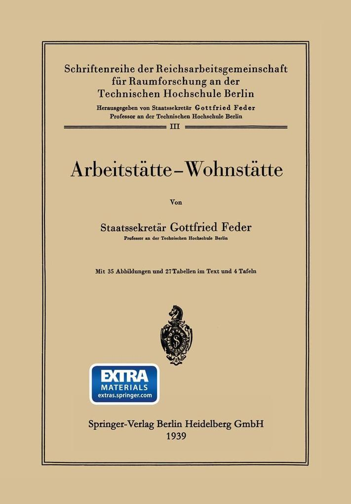 Arbeitstatte - Wohnstatte als eBook Download vo...