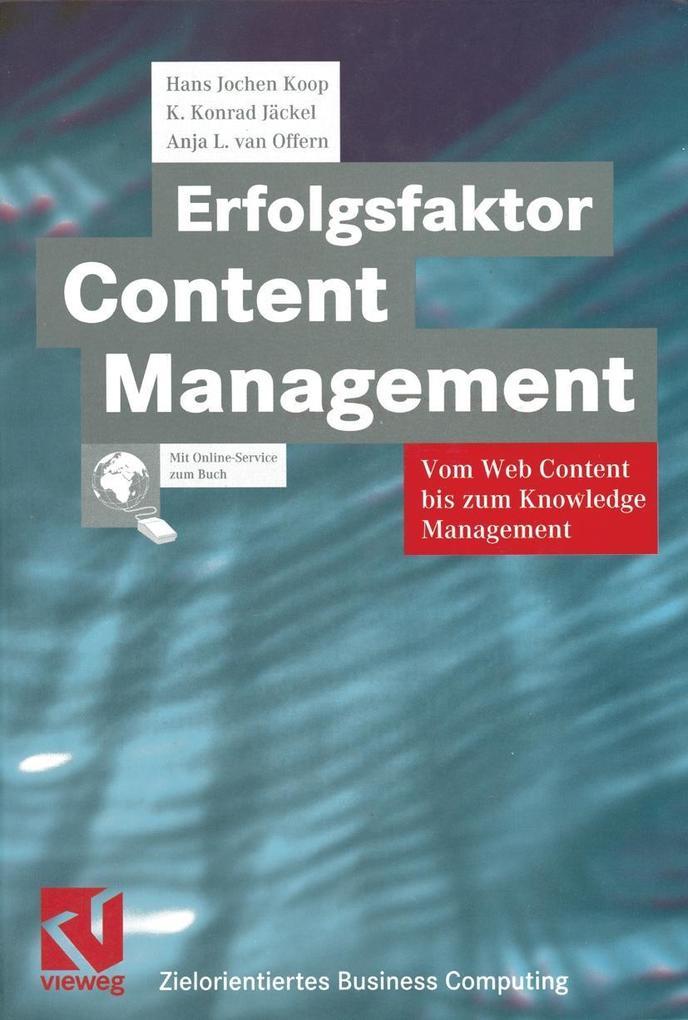 Erfolgsfaktor Content Management als eBook Down...
