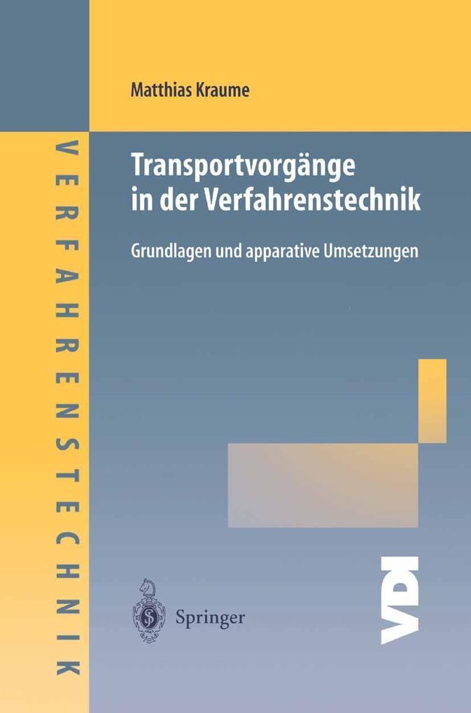 Transportvorgange in der Verfahrenstechnik als ...