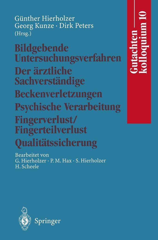 Gutachtenkolloquium 10 als eBook Download von
