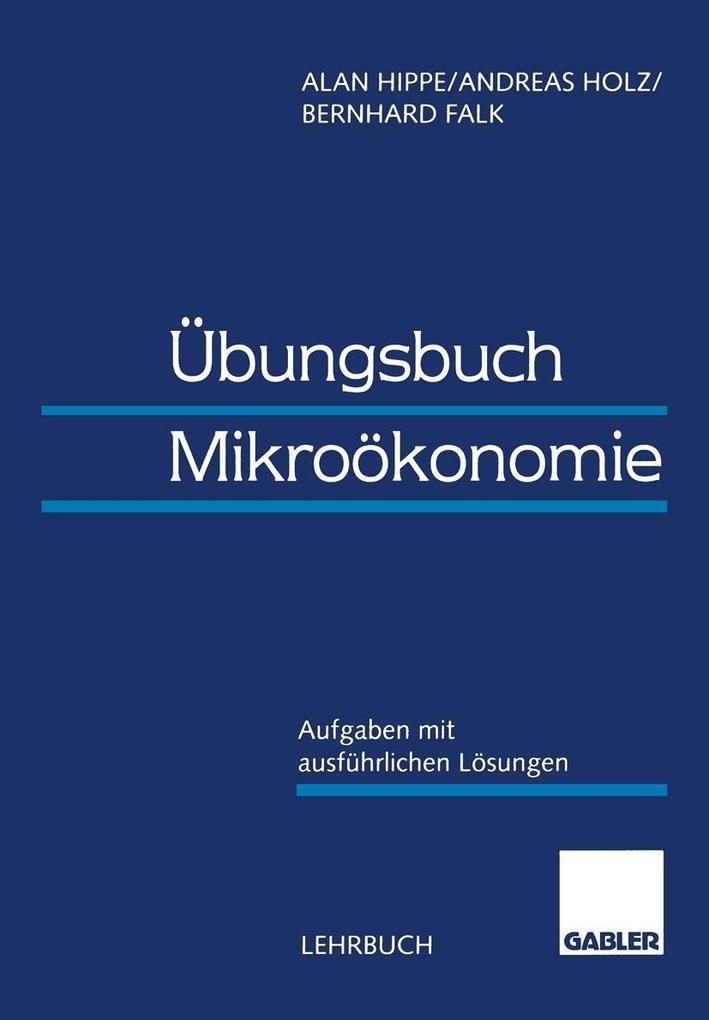 Ubungsbuch Mikrookonomie als eBook Download von...