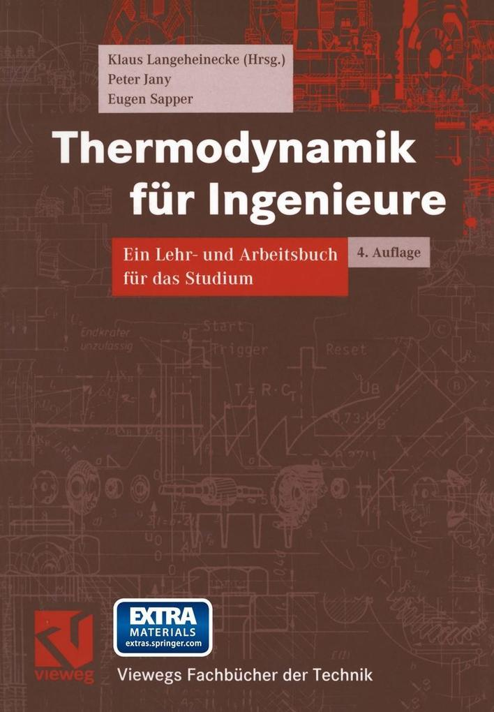 Thermodynamik fur Ingenieure als eBook Download...