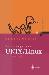 Keine Angst vor UNIX/Linux als eBook Download v...