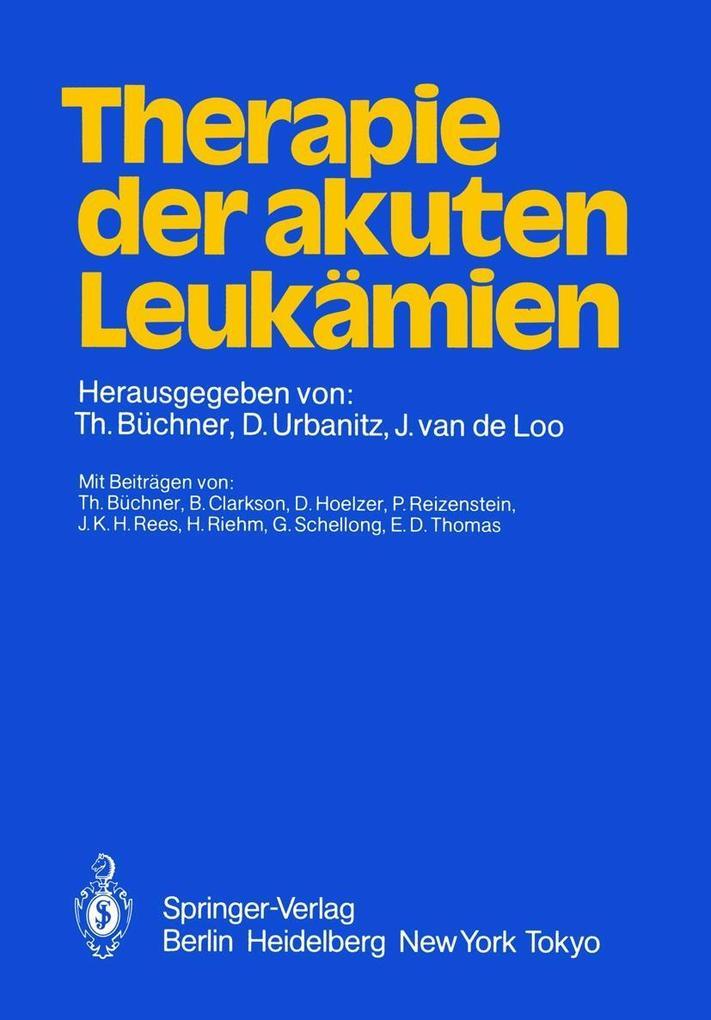 Therapie der akuten Leukamien als eBook Downloa...