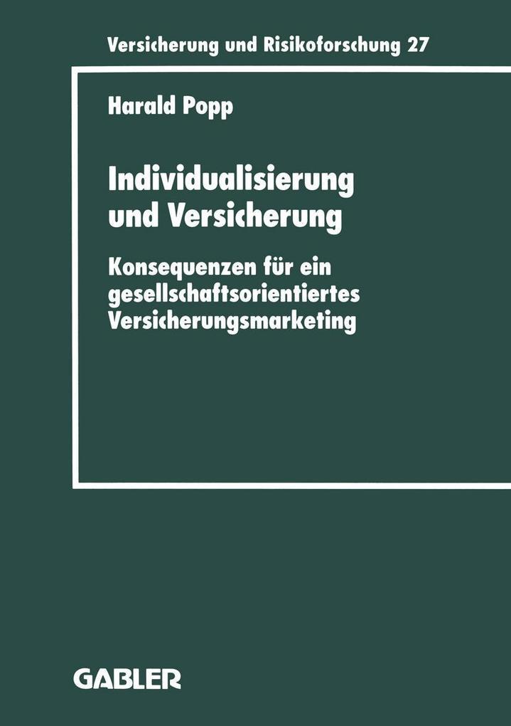 Individualisierung und Versicherung als eBook D...