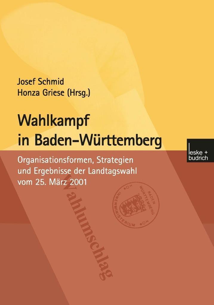 Wahlkampf in Baden-Wurttemberg als eBook Downlo...