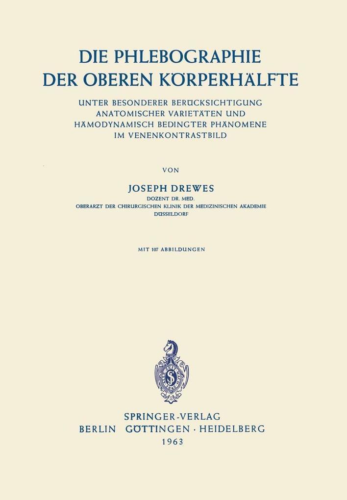 Die Phlebographie der Oberen Korperhalfte als e...