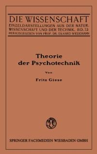 Theorie der Psychotechnik als eBook Download vo...