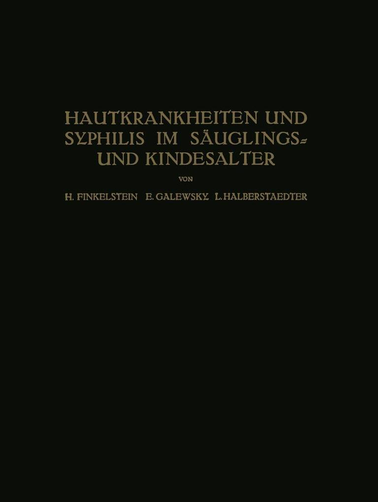 Hautkrankheiten und Syphilis im Sauglings? und ...