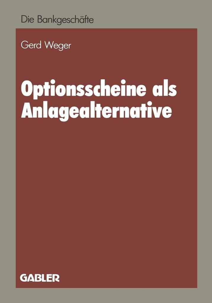 Optionsscheine als Anlagealternative als eBook ...