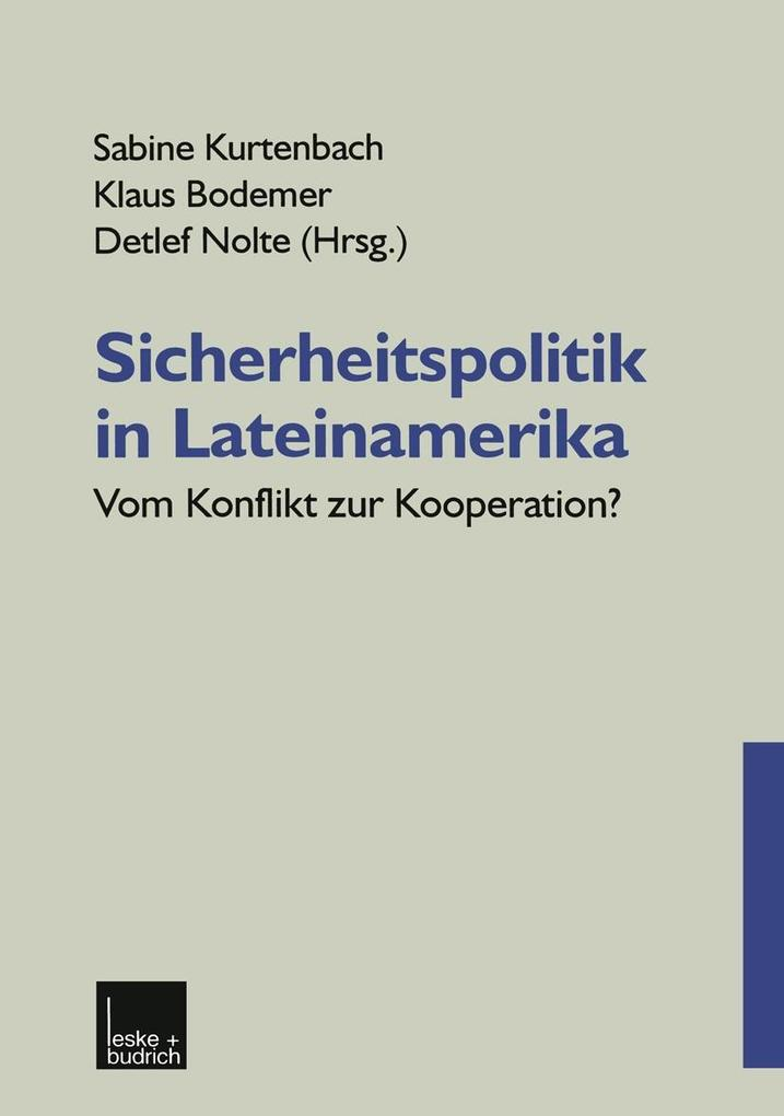 Sicherheitspolitik in Lateinamerika als eBook D...