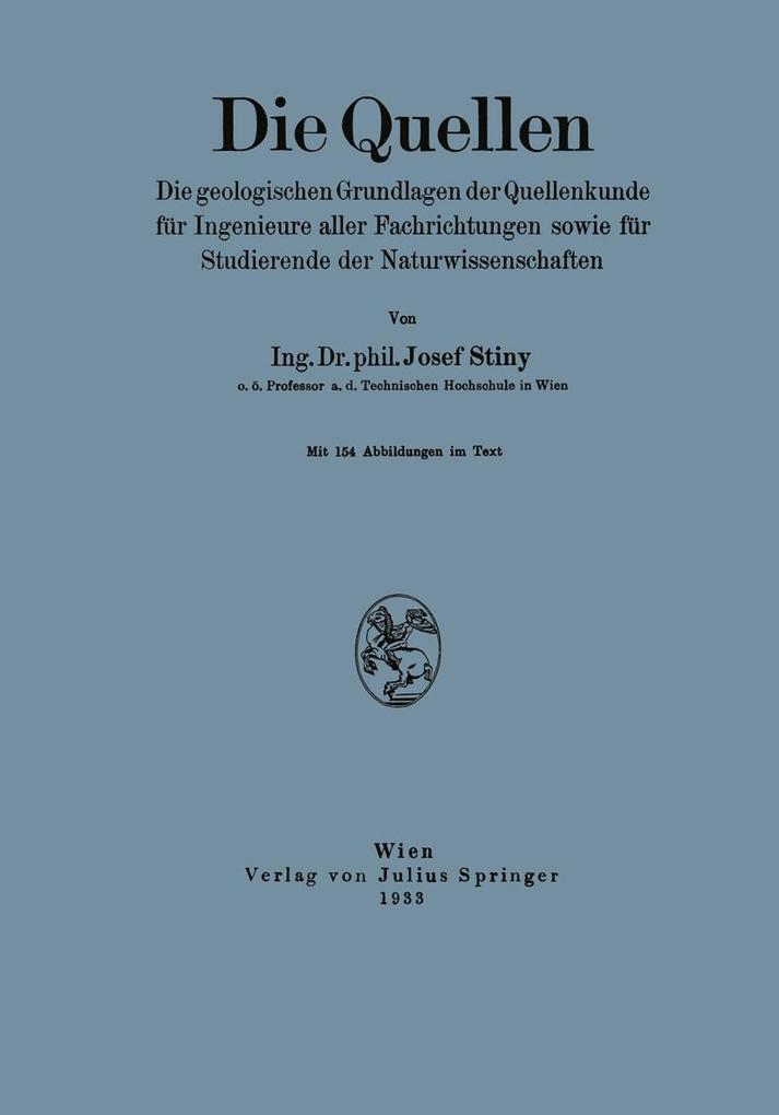 Die Quellen als eBook Download von Josef Stiny