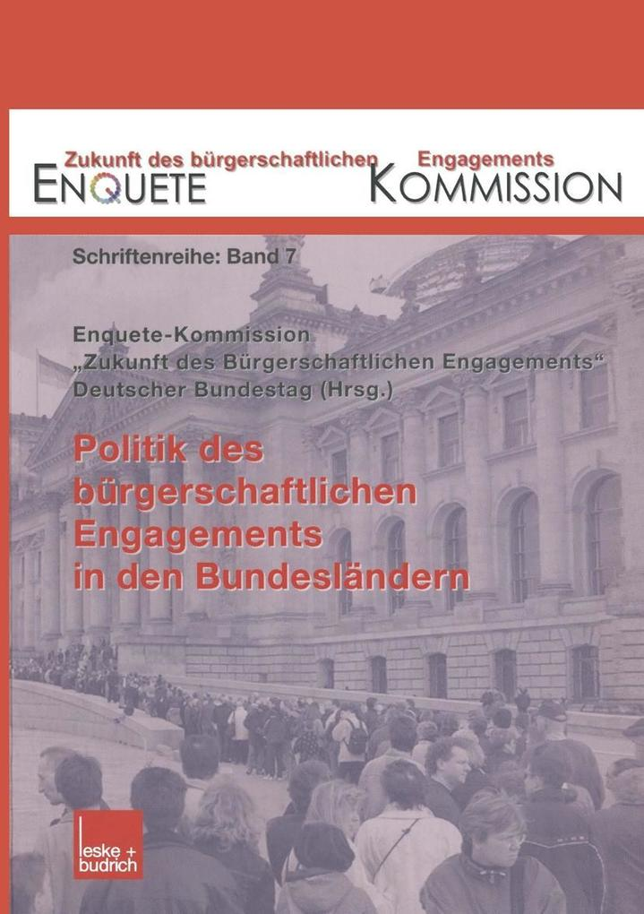 Politik des burgerschaftlichen Engagements in d...