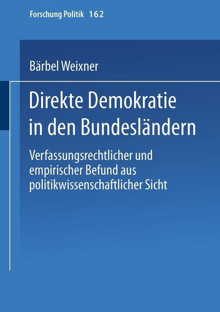Direkte Demokratie in den Bundeslandern als eBo...