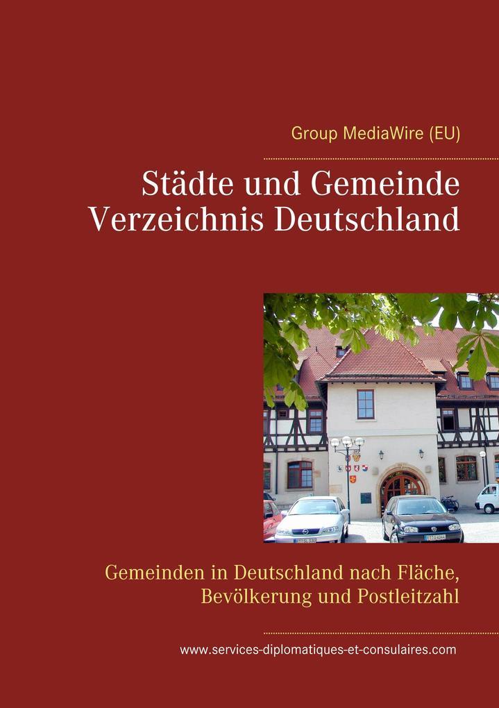 Städte und Gemeinde Verzeichnis Deutschland als...